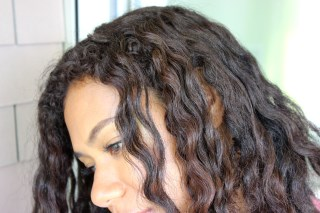 Henna on Naturally Curly Dark Brown Hair
