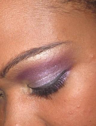 Golden Purple Look