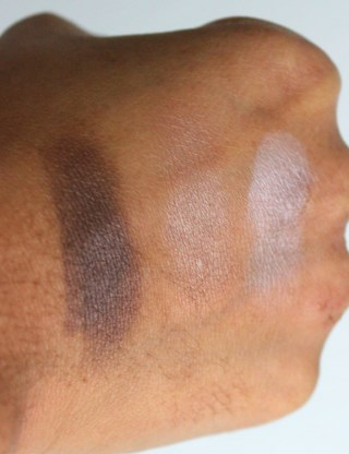 essence I love Nude single eye shadows swatches